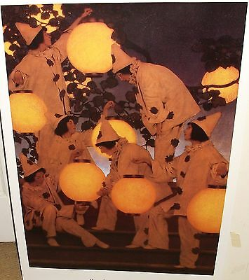 """MAXFIELD PARRISH """"LANTERN BEARERS"""". HUGE 24"""" X 36"""" COLOR POSTER"""