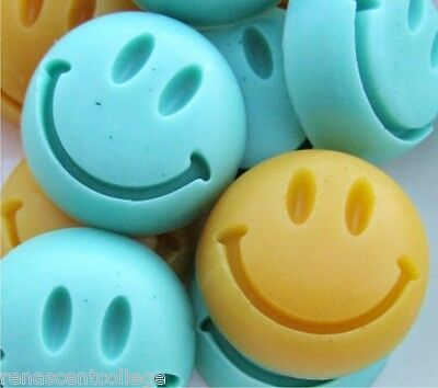 SMILIE Smily 7 Shapes Silicone Mould: Soap Chocolates Ice tray Mold
