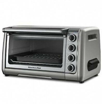"KitchenAid 10"" Countertop Toaster Oven r-kco111cu 10"" SILVER crumb tray FullSize"