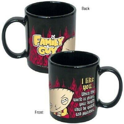 "The Family Guy, Stewie ""I Like You"" Illustrated Ceramic Coffee Mug, NEW UNUSED"