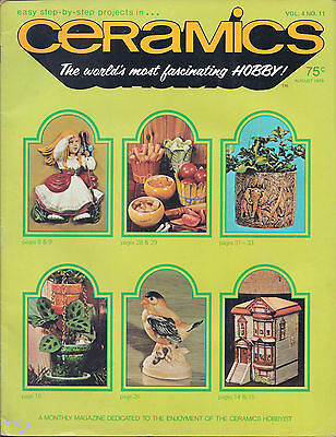 Ceramics -- The world's most fascinating HOBBY! Magazine August 1975