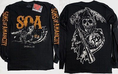 Sons of Anarchy SOA Charging Reaper Tv Show Long Sleeve Shirt