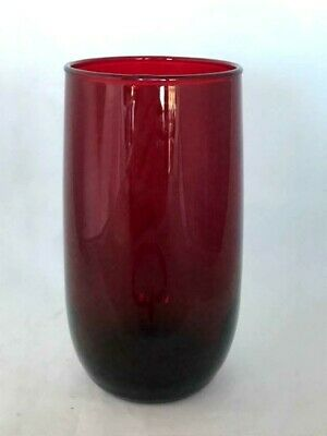 Vintage Large ANCHOR HOCKING Royal Ruby Red Glass Tumbler - MORE AVAILABLE