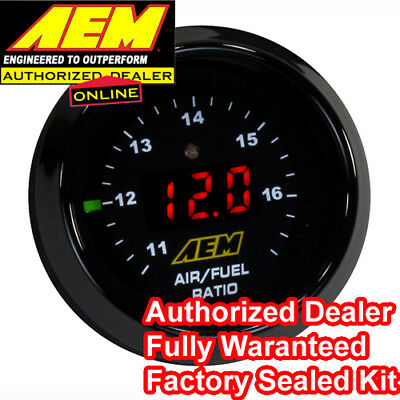 Aem 30-4110 Wideband O2 Uego Controller Air Fuel Ratio Gauge Kit Bosch 4.9 Lsu