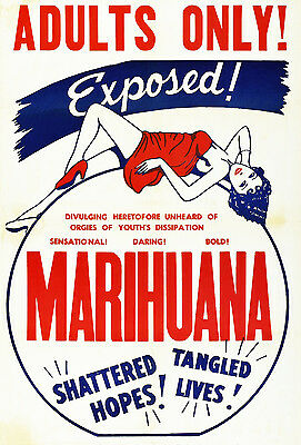 Poster Print Classic Vintage Marihuana Cult Movie Film re-print Various A4, A3