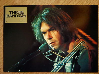 THE BAND - LAST WALTZ German lobby card #4  Bob Dylan - NEIL YOUNG - SCORSESE