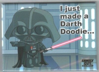 The Family Guy Blue Harvest Stewie Darth Doodie Magnet Star Wars Spoof NEW