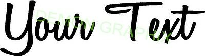 Personalized name vinyl decal sticker car/truck laptop/netbook window custom 9""