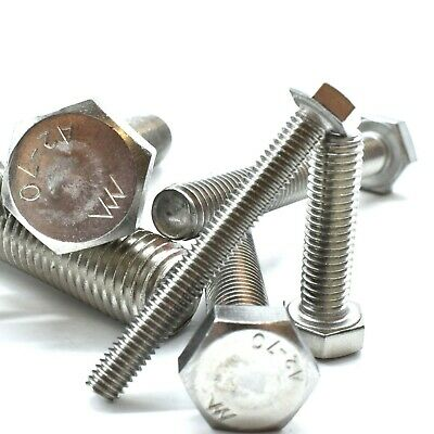 M3 (3mm) A2 STAINLESS FULLY THREADED BOLT  SCREW HEXAGON HEX SET DIN933 FWS