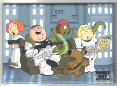 The Family Guy Blue Harvest Family on a Couch Magnet Star Wars Spoof NEW UNUSED
