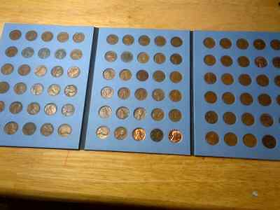 1923 - 1958  Lincoln Wheat Cent Set;  Wheatback Set in Coin Folder