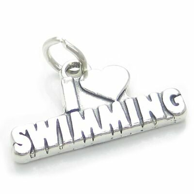 I Love to Swim sterling silver charm .925 x 1 Swimming Swimmer charms CF4705