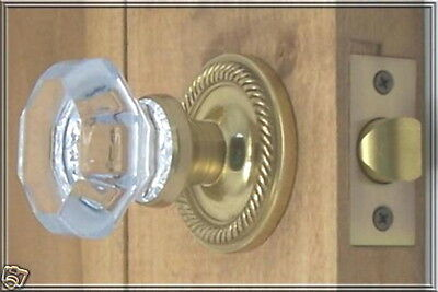 Finest 24% Lead Crystal OLD TOWN Passage Door Knob Set - Custom made for you