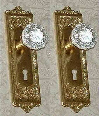 Egg&Dart Passage Door Crystal Glass Knobs-Complete Set-CUSTOM MADE-GUARANTEED