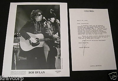 Bob Dylan 'Mtv Unplugged' 1995 Photo W/cover Letter
