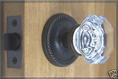 Finest 24% Lead Crystal OLD TOWN Passage Door Knob Set-CUSTOM MADE-GUARANTEED
