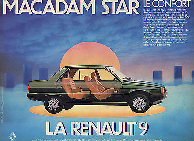 Publicite Advertising 014 1981 Renault 9 Macadam Star Collectibles Double Pages