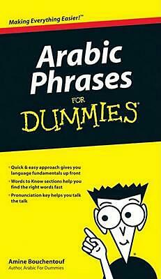 Arabic Phrases for Dummies by Amine Bouchentouf (English) Paperback Book Free Sh