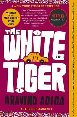 The White Tiger by Aravind Adiga (English) Paperback Book Free Shipping!