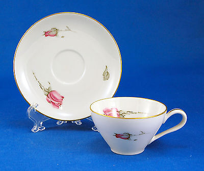 KPM 675 Flat Demitasse Espresso Cup and Saucer Set 1.875 in. Roses RKPM Krister