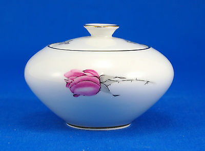KPM 675 Sugar Bowl and Lid 2 in. Red Roses Gold Trim White RKPM Krister 675 22