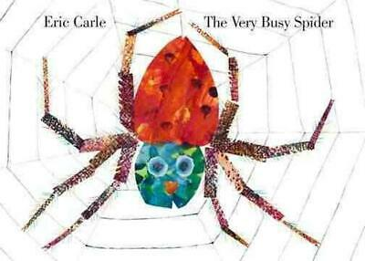 The Very Busy Spider by Eric Carle (English) Board Books Book Free Shipping!