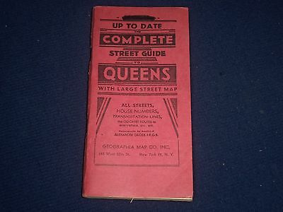 1956 Up To Date The Complete Street Guide To Queens - Fold Out Map - Ii 9603