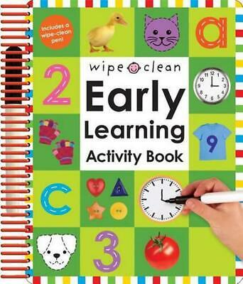 Wipe Clean Early Learning Activity Book [With 1 Wipe-Clean Pens] by Roger Priddy