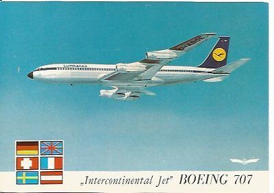Cp Avion Boeing 707 Lufthansa Intercontinental Jet D-Abos