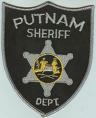 Putnam County West Virginia Sheriff GRAY patch WV police patch CHEESECLOTH BACK