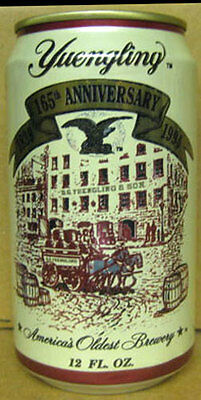 YUENGLING LAGER BEER Can 165th Year, 1994, PENNSYLVANIA Brewery Scene Grade 1/1+