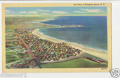 Postcard 1940s Hampton Beach New Hampshire from the air vintage!