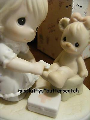 Precious Moments~PM941~CARING~Girl Caring For Her Teddy BEAR~trumpet mark~BV=$70