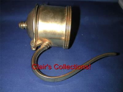 Italy EP Zinc Lid for Large Claret Jug, Threaded for Ice Sleeve Insert Goldtone