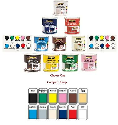 250Ml Rustins Small Job Gloss Colour Paint Indoor & Outdoor Use For Wood Metal