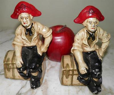 Antique Hubley Treasure Chest  Pirate Nautical Cast Iron  Bookends