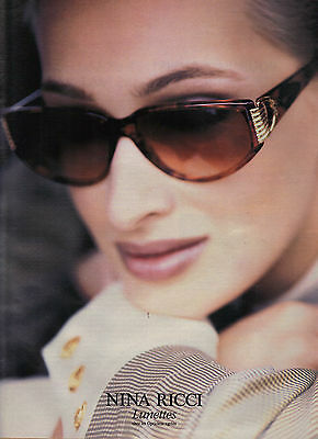PUBLICITE ADVERTISING  1994     NINA RICCI   collection lunettes