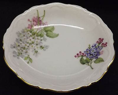 Mitterteich Lilac Fruit / Dessert  Bowl - Gold Trim Bavaria Germany