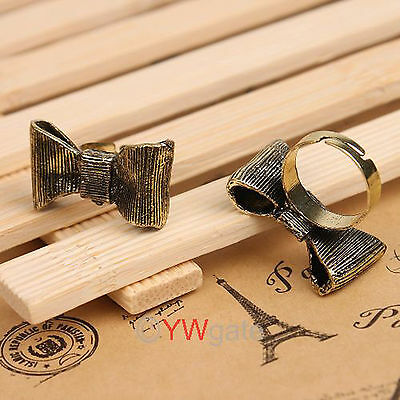 Wholesale 10pcs Fashion Retro Style Cute Lovely Bowknot Bow Adjustable Ring