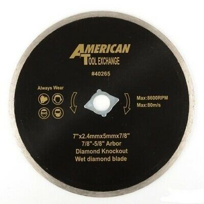 "7"" Wet Diamond Blade w/ Diamond Knock Perfect for Tile Saws Marble Cutting Tools"