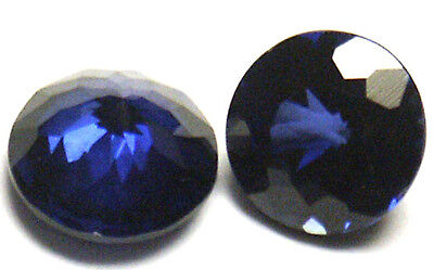 Nice 6 mm Round Double Brillant Blue Created Sapphire