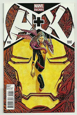 A + X #2 (2012) NM Mike Del Mundo 1:20 Variant Cover X-Men Avengers Marvel Now