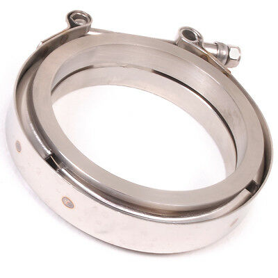 "Universal 3"" 76Mm Stainless Steel Heavy Duty V Band Exhaust Clamp Exhaust Flange"
