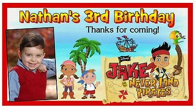 12 JAKE AND THE NEVERLAND PIRATES BIRTHDAY PARTY FAVORS PHOTO MAGNETS