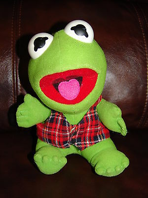 """Vintage 1987 Muppets Kermit the Frog Plush Doll 7"""" #2"""
