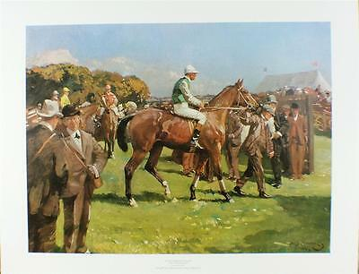 Print/ At Hethersett Races / Munnings /50 X 59 Cms/horse Racing/top Quality/new