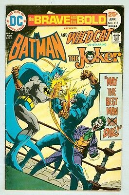 The Brave and the Bold #118 April 1975 VG Joker/Wildcat