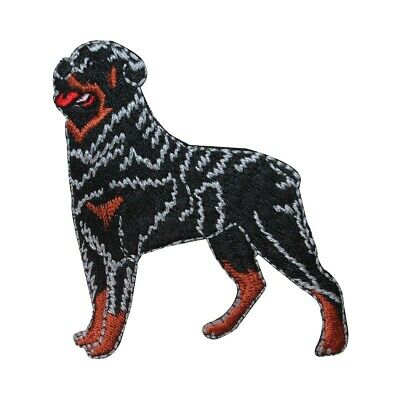 ID 2768 Rottweiler Dog Patch Guard Puppy Breed Embroidered Iron On Applique