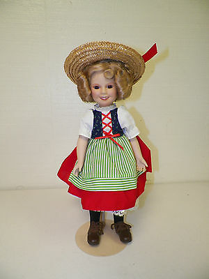 Danbury Mint Shirley Temple Porcelain Doll With Stand 15""