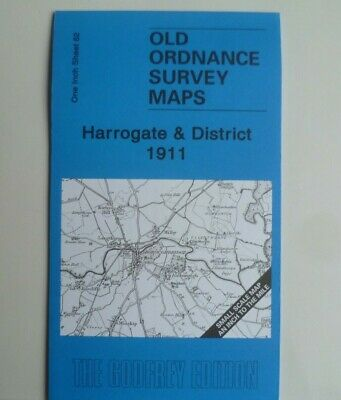 OLD Ordnance Survey Maps Harrogate Easingwold Burton Leonard Area 1911 S62 New